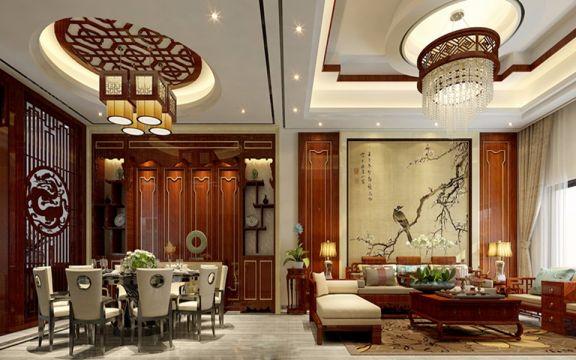 170平新中式风格四房两厅两卫新房装修效果图