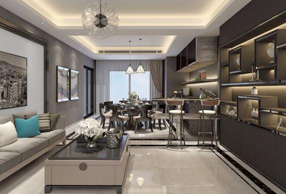 后现代混搭风格200平四居室新房室内装修效果图