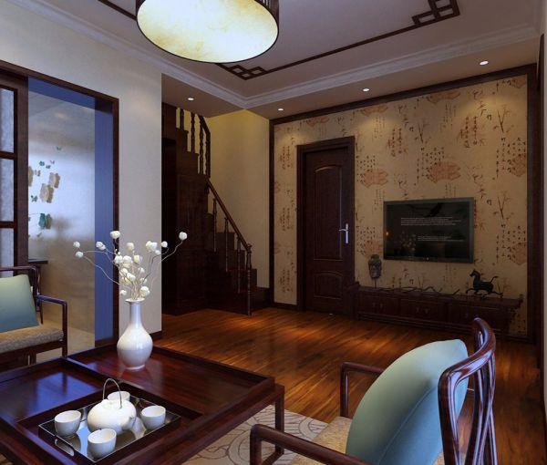 70平中式楼房装修效果图