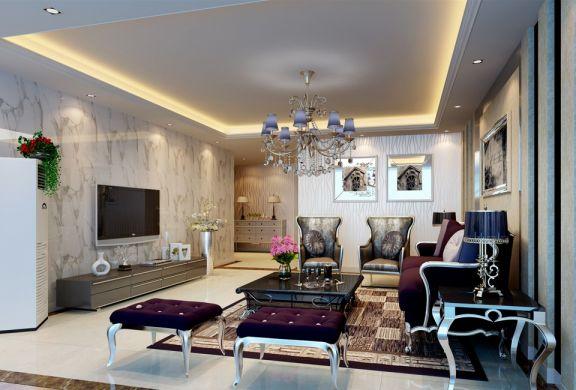 珠江帝景139平米两居室新古典装修效果图