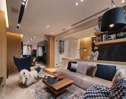 120平现代风三居室装修效果图