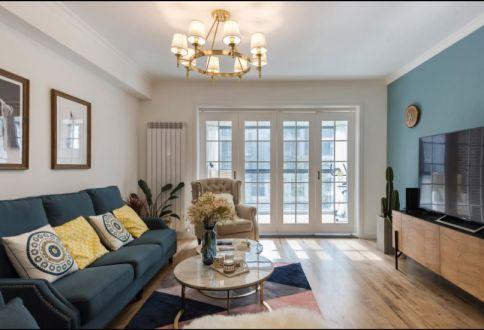 混搭风格158平米三室两厅新房装修效果图