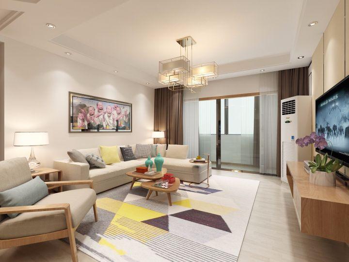 混搭风格170平米三室两厅新房装修效果图