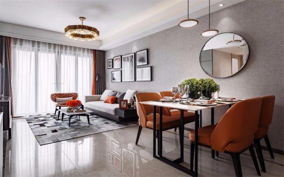 现代简约风格146平米三室两厅新房装修效果图