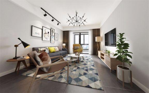 沈阳保工印象127三室北欧风格装修案例