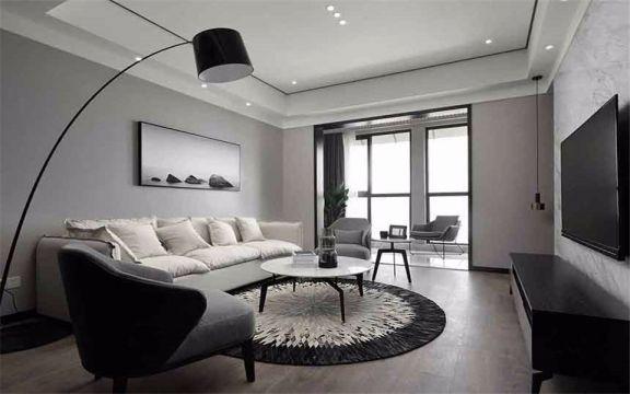 简约风格112平米两室两厅新房装修效果图