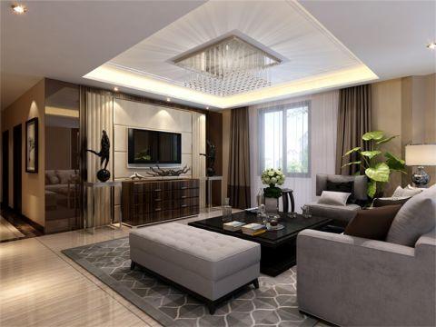 现代简约风格130平米四室两厅新房装修效果图