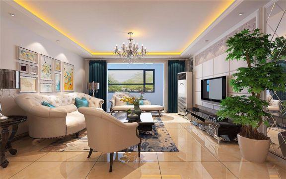 简欧风格117平米三室两厅新房装修效果图