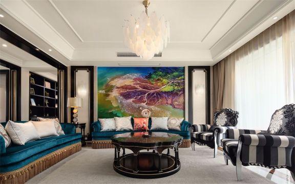 远洋心里小区194平欧式风格三居室装修效果图