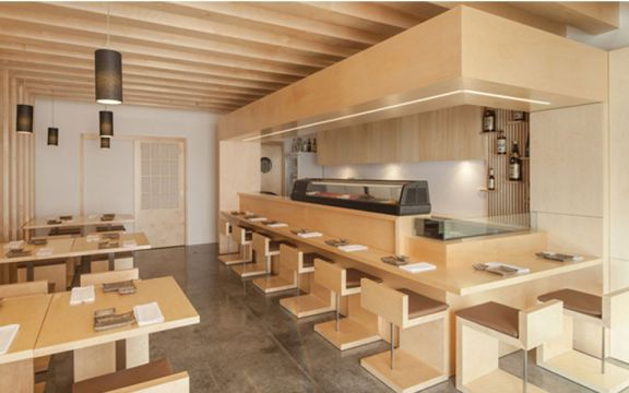 150平现代简约风济然汇餐厅效果图