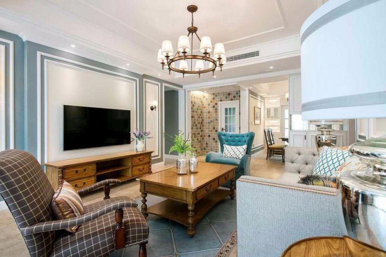 美式风格170平米四室两厅新房装修效果图