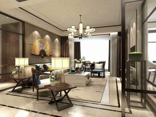 新中式风格170平米四室两厅新房装修效果图