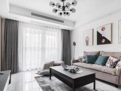 107方现代风格二居室装修效果图