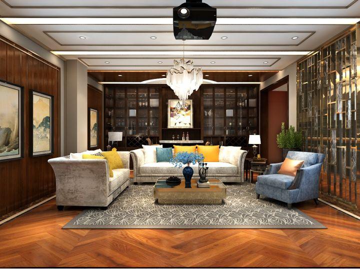 混搭风格560平米别墅室内装修效果图