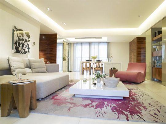 恒大绿洲120平现代风格套房装修效果图