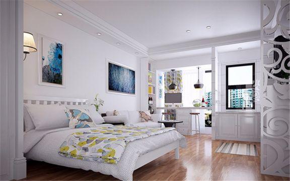 50平北欧风格1居室单身公寓新房装修效果图