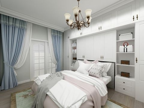 地中海风格70平米两室两厅新房装修效果图