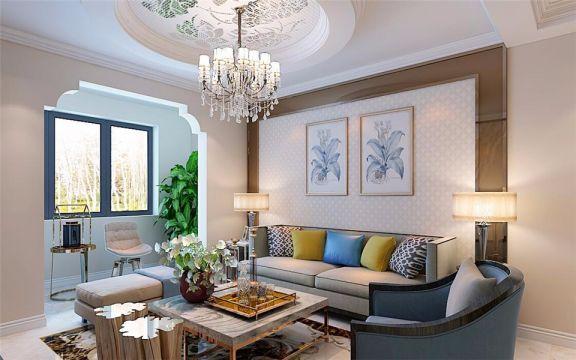 简欧风格135平米楼房室内装修效果图