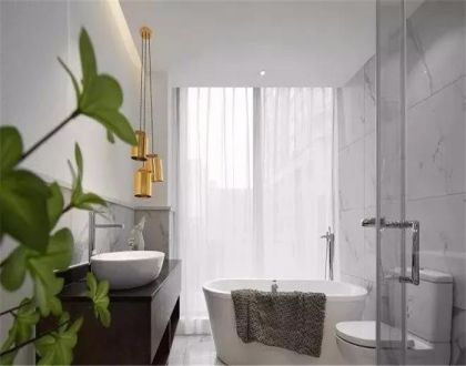 128平现代简约三居室装修效果图
