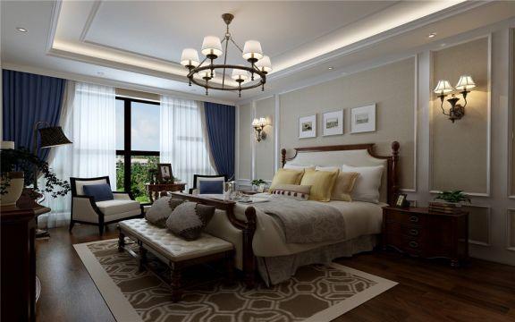 美式风格170平米复式新房装修效果图