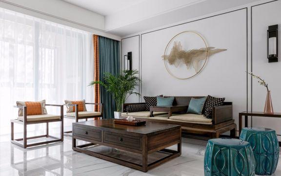 98平新中式三居室装修效果图