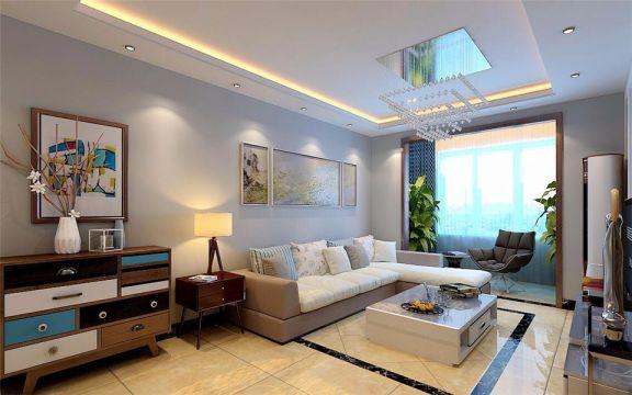 现代简约风格95平米楼房室内装修效果图