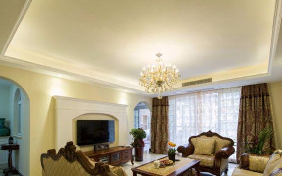 田园风格159平米三室两厅新房装修效果图