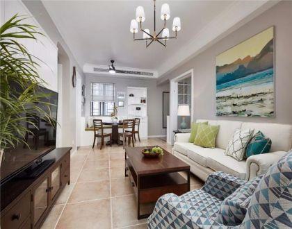 102平美式三居室装修效果图