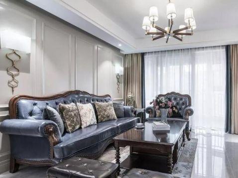 美式风格138平米三室两厅新房装修效果图