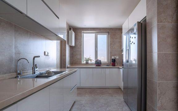 厚载巷小区78平方现代风格二居室装修效果图