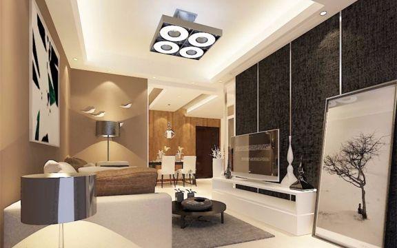 90平北欧风格简单爱2居室二手房装修效果图