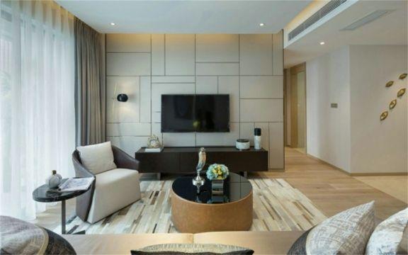 98平米现代简约风格三居室装修效果图