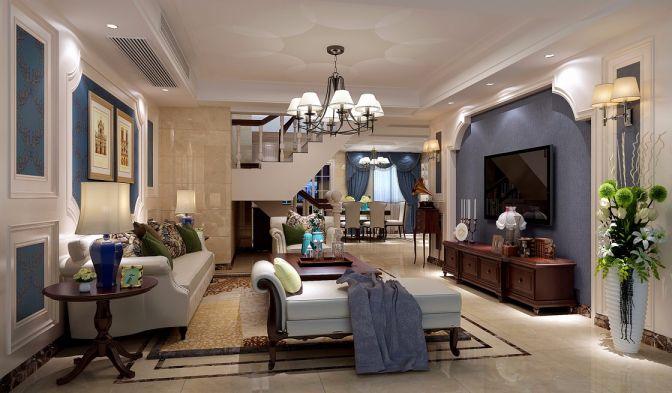 280平美式风格套房装修效果图