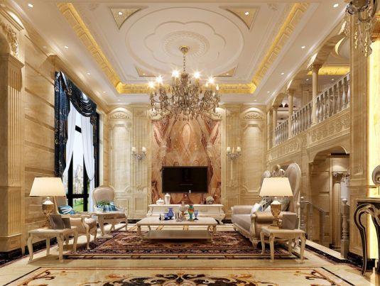 420平欧式风格四居室效果图