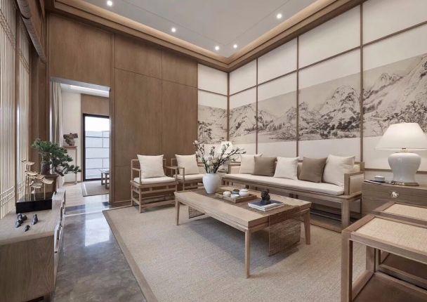 180平新中式四居室装修效果图
