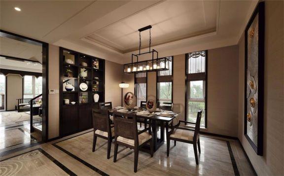 中式风格110平米三室两厅新房装修效果图