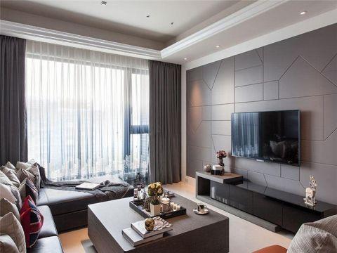 2018现代简约110平米装修设计 2018现代简约三居室装修设计图片