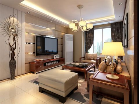 新中式风格155平米四室两厅新房装修效果图