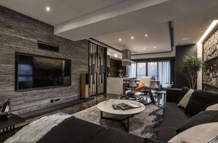 现代风格166平米四室两厅新房装修效果图