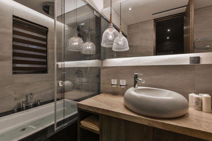 166平米现代风格四房套房装修案例