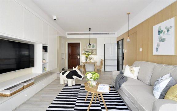 现代简约风格86平米两室两厅新房装修效果图