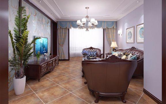 130平美式风格三居室装修效果图