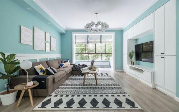 法式风格95平米三室两厅新房装修效果图