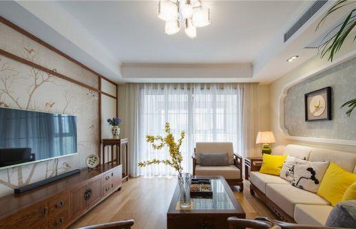 合肥华夏茗湾学府110平三居室中式风格装修效果图