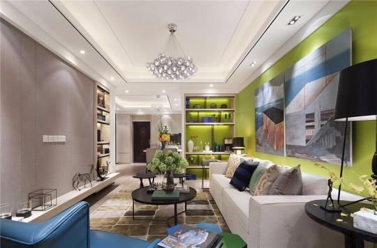 万达紫金明珠现代风格120平套房装修效果图