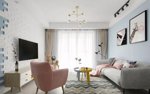 合肥华邦观筑里106平北欧风三居室装修案例效果图
