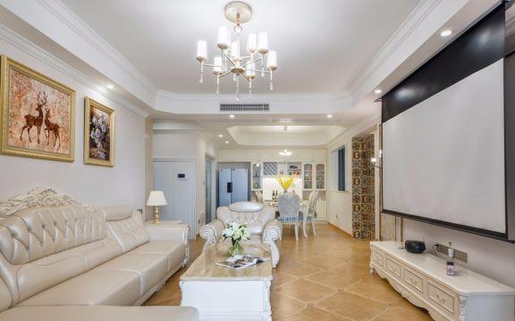 明豪花园110平方美式风格四居室装修效果图