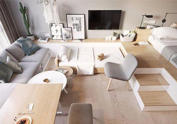 现代风格38平米小户型室内装修效果图