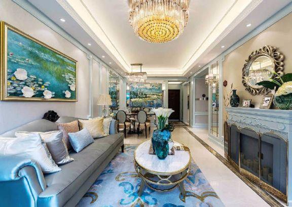 法式风格219平米别墅室内装修效果图