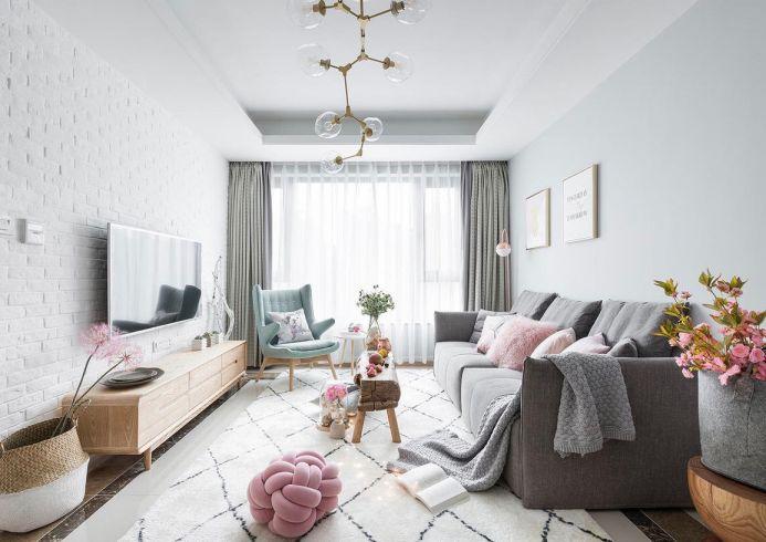 88平北欧风格二居室装修效果图